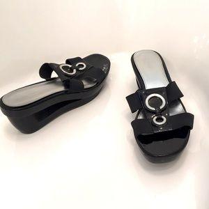 Like new Calvin Klein Hollow Heel Wedge Slides